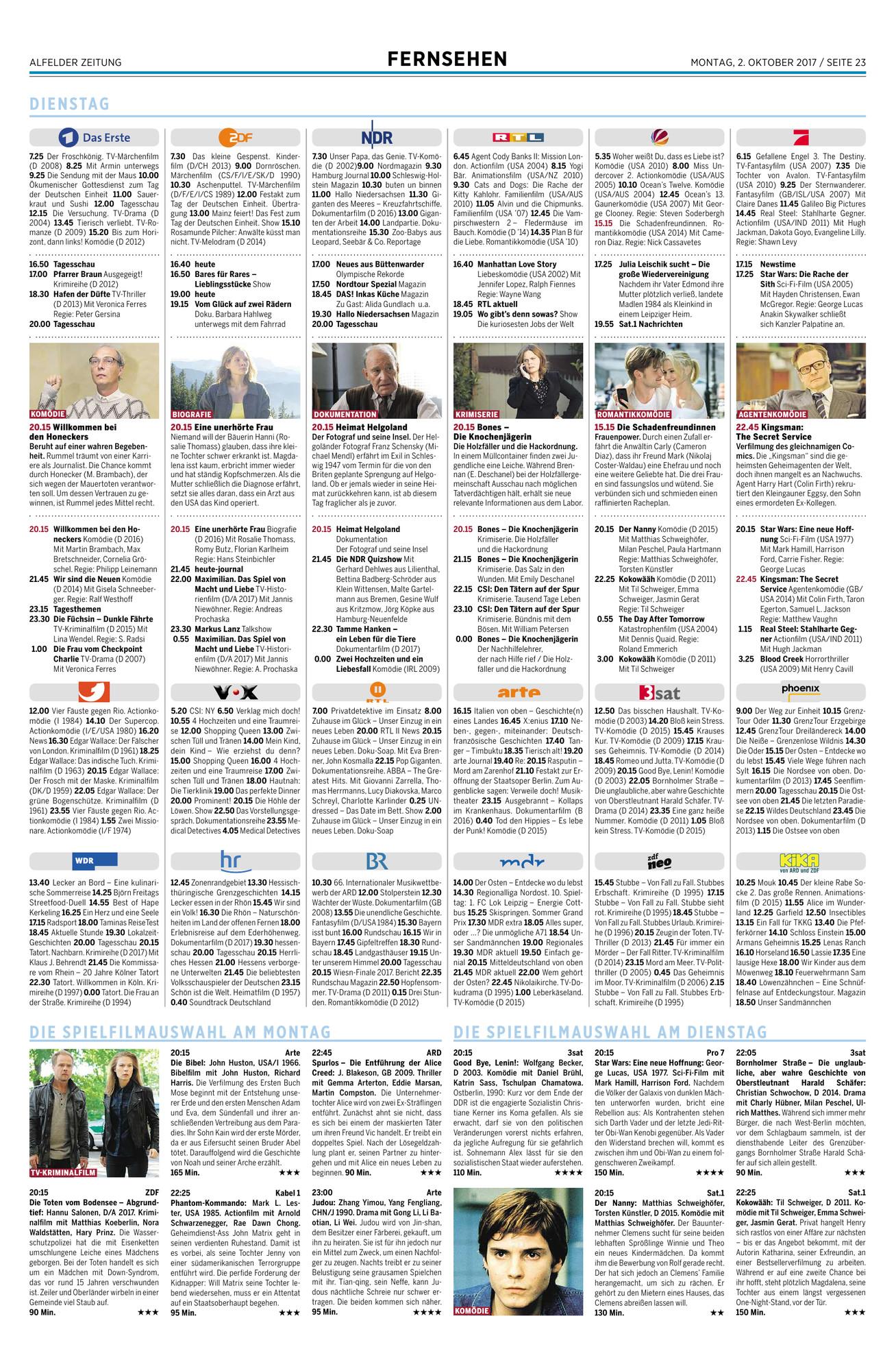 Alfelder Zeitung - Epaper-Seite
